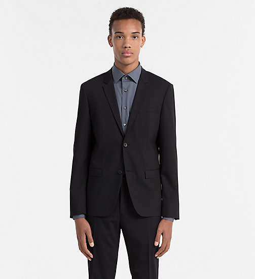 CALVIN KLEIN Slim Wool Blazer - PERFECT BLACK - CALVIN KLEIN BLAZERS & SUITS - main image