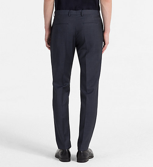 CALVINKLEIN Fitted Textured Wool Trousers - BLUE NIGHTS -  CLOTHES - detail image 1