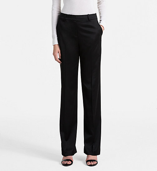 CALVINKLEIN Satin Tuxedo Trousers - BLACK - CALVIN KLEIN FEELING FESTIVE - main image