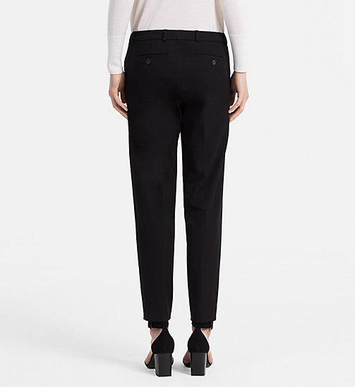 CALVINKLEIN Cotton Stretch Cropped Trousers - BLACK - CALVIN KLEIN FEELING FESTIVE - detail image 1
