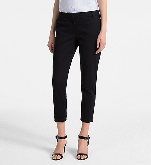 CALVINKLEIN Cotton Stretch Cropped Trousers - LIGHT NAVY - CALVIN KLEIN TROUSERS - main image