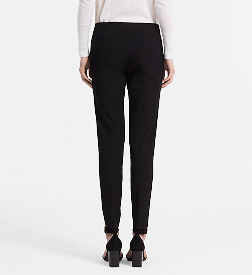 CALVINKLEIN Stretch Twill Leggings - BLACK - CALVIN KLEIN FEELING FESTIVE - detail image 1