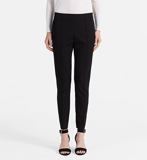 CALVINKLEIN Cotton Stretch Leggings - BLACK - CALVIN KLEIN FEELING FESTIVE - main image