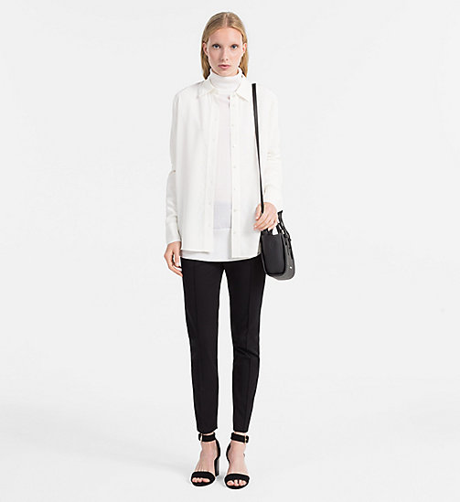 CALVINKLEIN Wool Silk Turtleneck Sweater - MARSHMALLOW - CALVIN KLEIN KNITWEAR - detail image 1