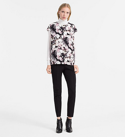 CALVINKLEIN Silk Printed Top - FADED FLORAL PRT - CALVIN KLEIN TOPS - detail image 1
