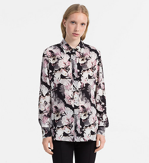 CALVINKLEIN Silk Printed Blouse - FADED FLORAL PRT - CALVIN KLEIN SHIRTS - main image