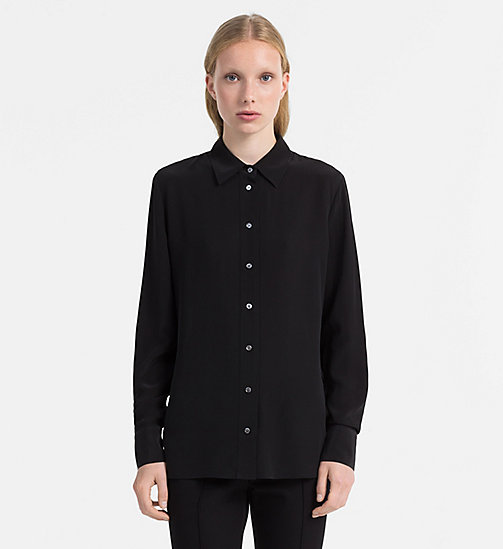 CALVINKLEIN Washed Silk Shirt - BLACK - CALVIN KLEIN SHIRTS - main image