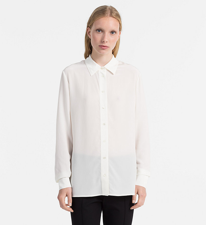 CALVINKLEIN Washed Silk Shirt - BLACK - CALVIN KLEIN WOMEN - main image