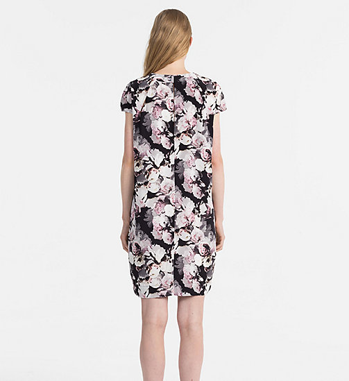 CALVINKLEIN Silk Printed Dress - FADED FLORAL PRT - CALVIN KLEIN DRESSES & SKIRTS - detail image 1