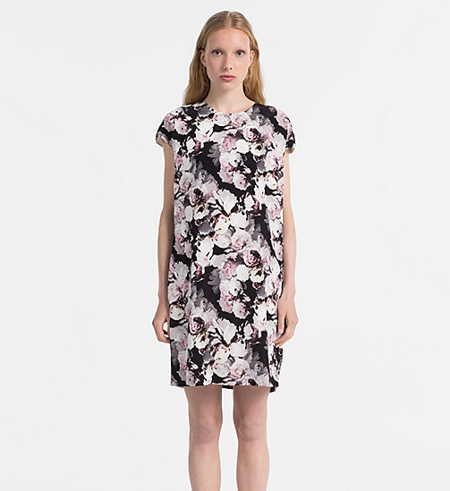 CALVINKLEIN Silk Printed Dress - FADED FLORAL PRT - CALVIN KLEIN DRESSES & SKIRTS - main image