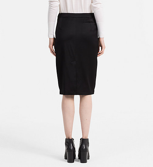 CALVINKLEIN Satin Pencil Skirt - BLACK - CALVIN KLEIN SKIRTS - detail image 1