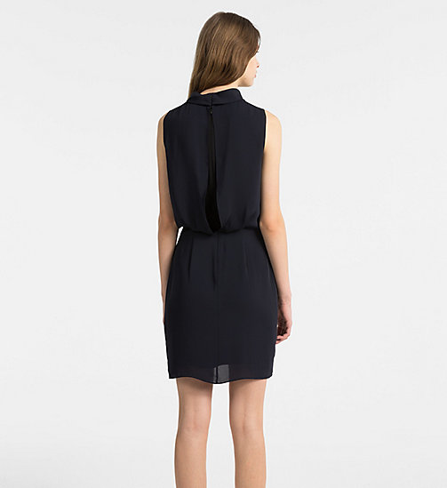 CALVINKLEIN Chiffon Sleeveless Dress - LIGHT NAVY - CALVIN KLEIN DRESSES - detail image 1