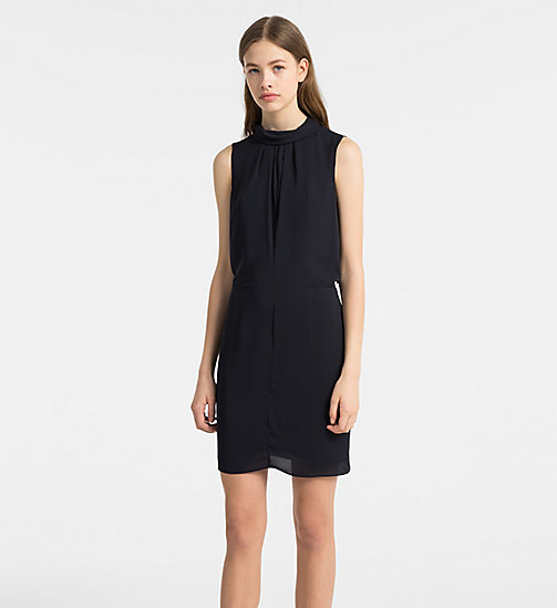 CALVINKLEIN Chiffon Sleeveless Dress - LIGHT NAVY - CALVIN KLEIN DRESSES - main image
