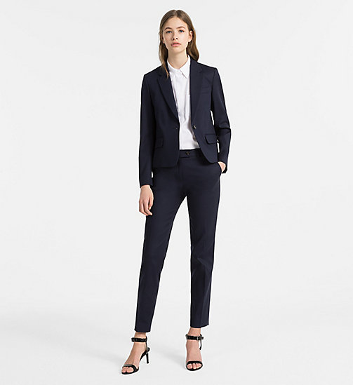 CALVINKLEIN Cotton Stretch Fitted Blazer - LIGHT NAVY - CALVIN KLEIN COATS & JACKETS - detail image 1