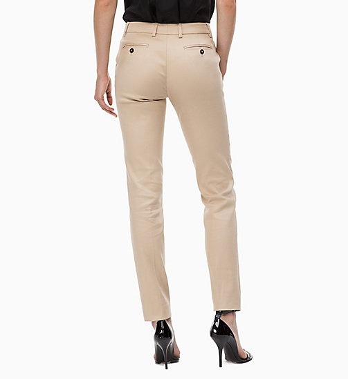CALVINKLEIN Cotton Stretch Slim Trousers - CHINO - CALVIN KLEIN TROUSERS - detail image 1