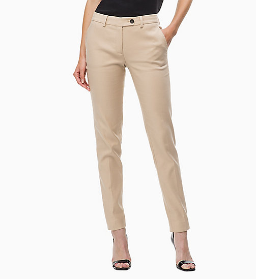 CALVINKLEIN Cotton Stretch Slim Trousers - CHINO - CALVIN KLEIN CLOTHES - main image