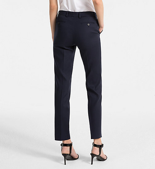 CALVINKLEIN Cotton Stretch Trousers - LIGHT NAVY - CALVIN KLEIN TROUSERS - detail image 1