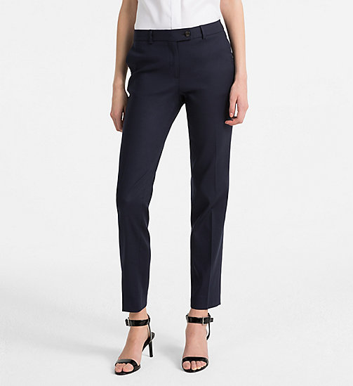 CALVINKLEIN Cotton Stretch Trousers - LIGHT NAVY - CALVIN KLEIN TROUSERS - main image