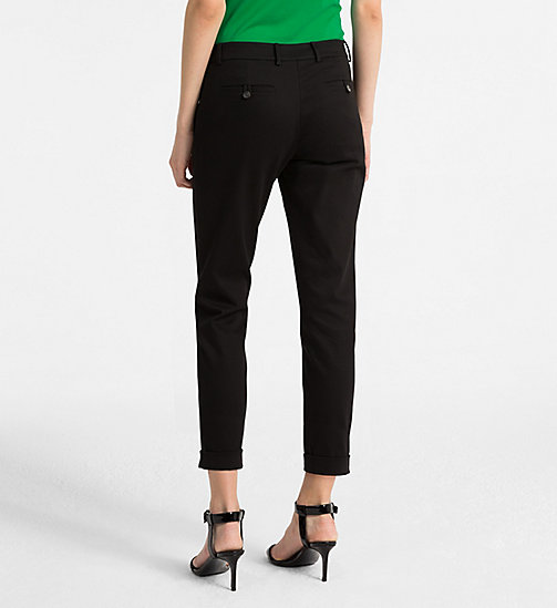CALVINKLEIN Cropped Chino Trousers - BLACK - CALVIN KLEIN TROUSERS - detail image 1