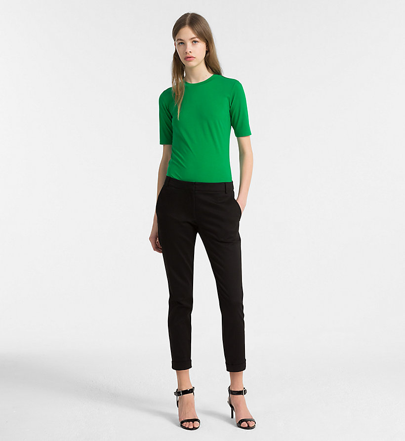 CALVINKLEIN Cropped Chino Trousers - CHINO - CALVIN KLEIN WOMEN - detail image 3