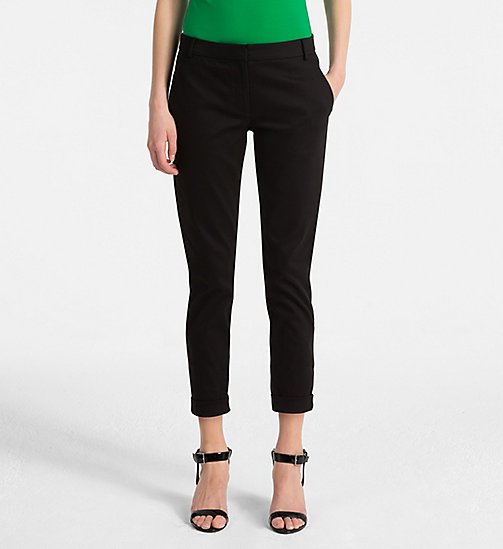 CALVINKLEIN Cropped Chino Trousers - BLACK - CALVIN KLEIN TROUSERS - main image