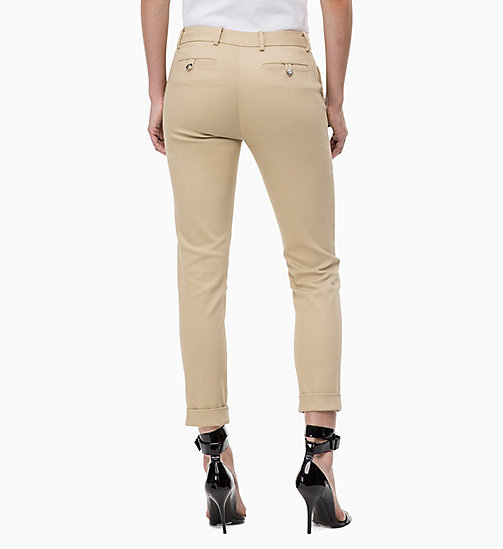 CALVINKLEIN Cropped Chino Trousers - CHINO - CALVIN KLEIN TROUSERS - detail image 1