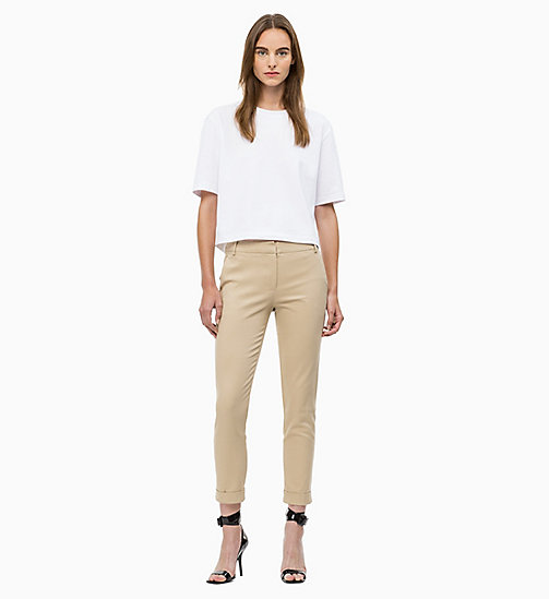 CALVIN KLEIN Cropped Chino Trousers - CHINO - CALVIN KLEIN WOMEN - detail image 1