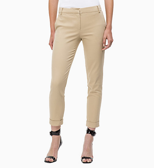 CALVINKLEIN Cropped Chino Trousers - CHINO - CALVIN KLEIN CLOTHES - main image