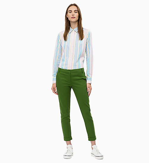 CALVIN KLEIN Cropped Chino-Hose - AIR FORCE GREEN - CALVIN KLEIN DAMEN - main image 1