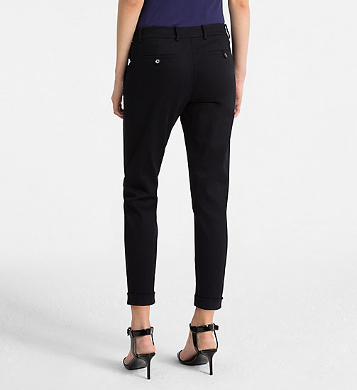 CALVINKLEIN Cropped Chino Trousers - LIGHT NAVY - CALVIN KLEIN TROUSERS - detail image 1