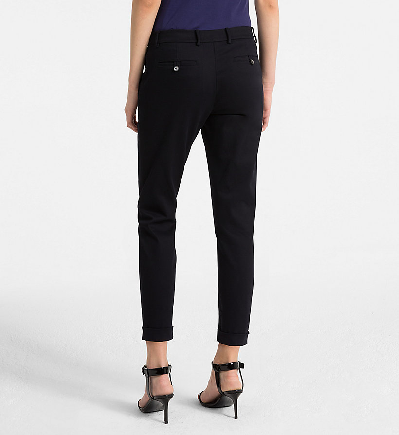 CALVINKLEIN Cropped Chino Trousers - BLACK - CALVIN KLEIN WOMEN - detail image 1