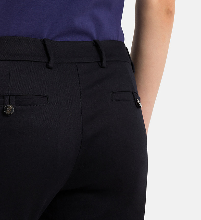 CALVINKLEIN Cropped Chino Trousers - BLACK - CALVIN KLEIN WOMEN - detail image 2