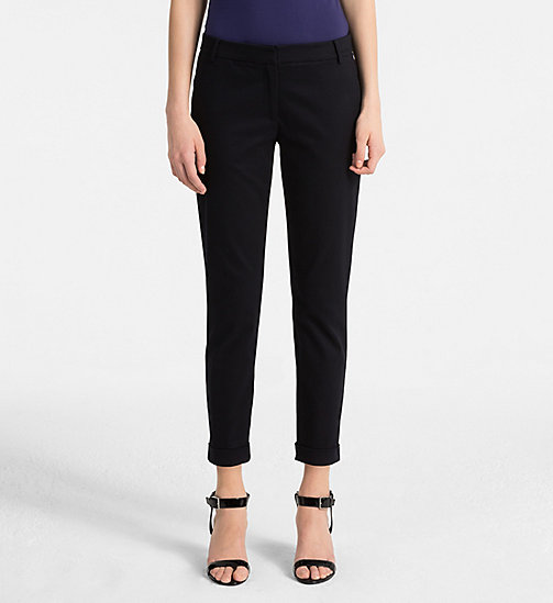 CALVINKLEIN Cropped Chino Trousers - LIGHT NAVY - CALVIN KLEIN TROUSERS - main image