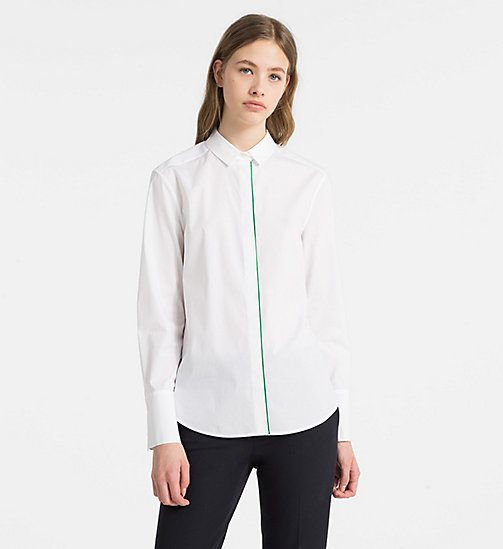 CALVINKLEIN Cotton Stretch Shirt - WHITE - CALVIN KLEIN SHIRTS - main image