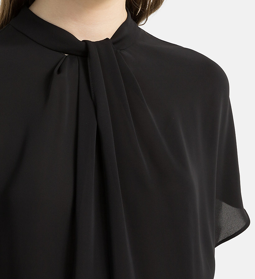 CALVINKLEIN Chiffon Twist Neck Top - CHALK - CALVIN KLEIN WOMEN - detail image 2
