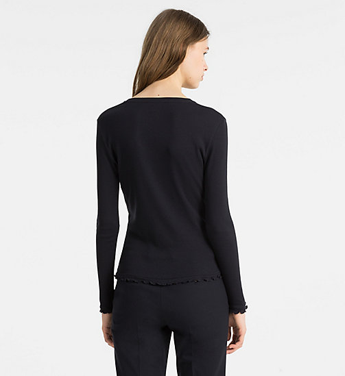 CALVINKLEIN Rib Jersey Longsleeve Top - LIGHT NAVY - CALVIN KLEIN SWIM SHOP - detail image 1