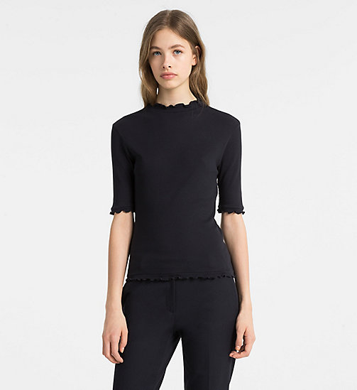 CALVINKLEIN Rib Jersey Short-Sleeve Top - LIGHT NAVY - CALVIN KLEIN TOPS - main image