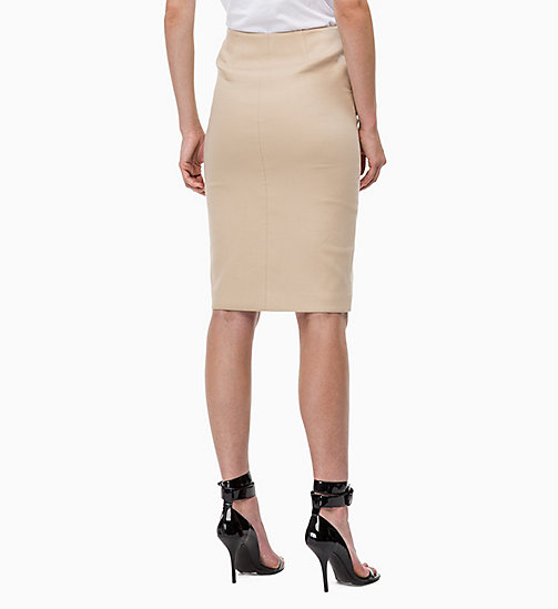 CALVINKLEIN Cotton Stretch Pencil Skirt - CHINO - CALVIN KLEIN SKIRTS - detail image 1