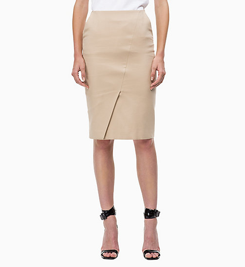CALVIN KLEIN Cotton Stretch Pencil Skirt - CHINO - CALVIN KLEIN SKIRTS - main image