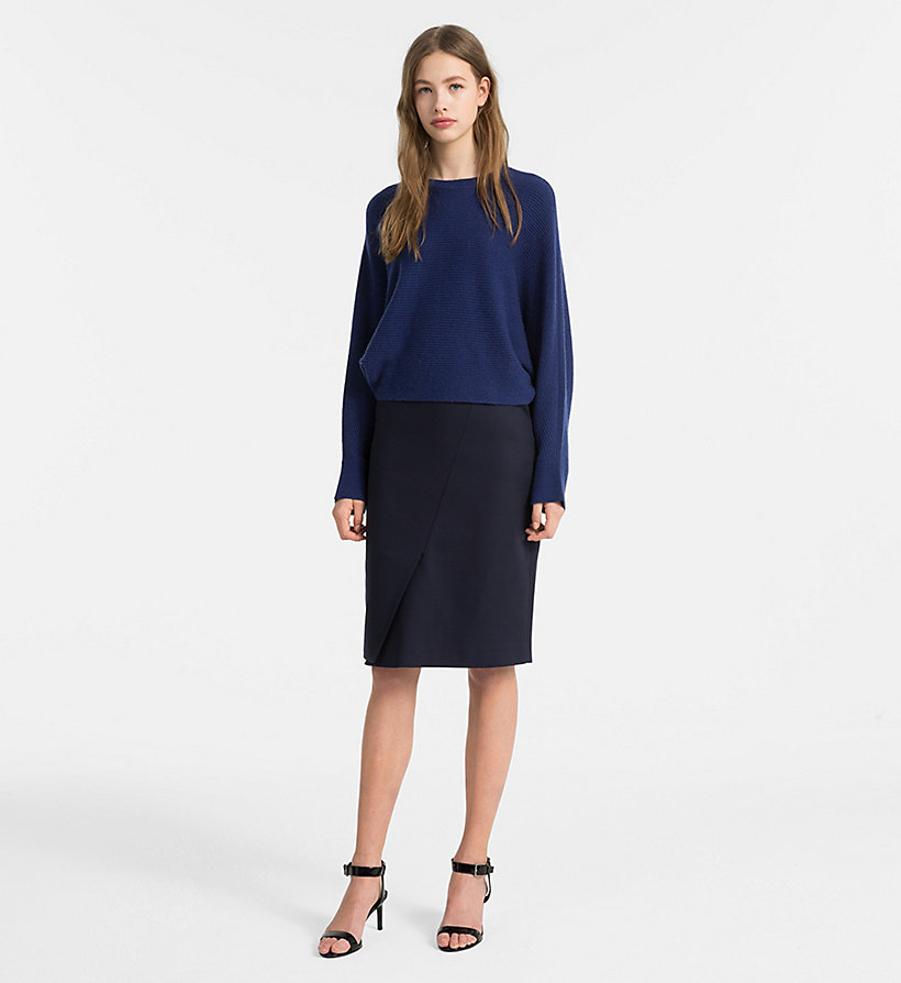 CALVINKLEIN Cotton Stretch Pencil Skirt - CHINO - CALVIN KLEIN WOMEN - detail image 3