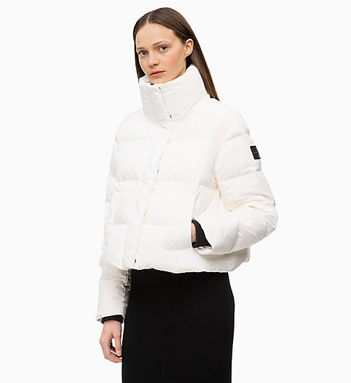 CALVINKLEIN Quilted Down Jacket - WHITE - CALVIN KLEIN JACKETS - main image