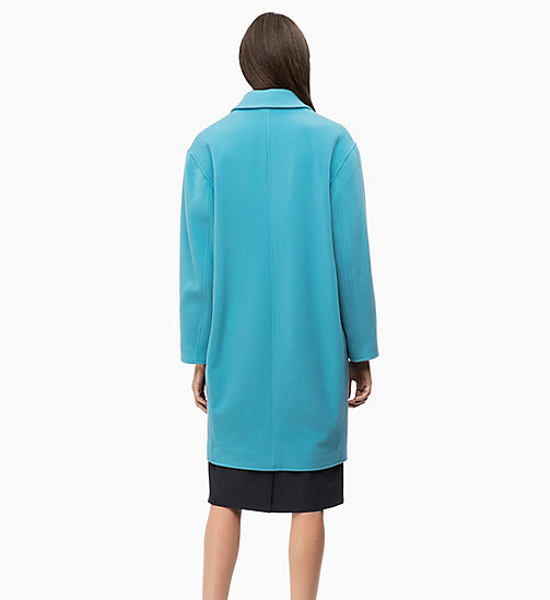 CALVINKLEIN Oversized Wool Blend Coat - AZURE - CALVIN KLEIN INVEST IN COLOUR - detail image 1