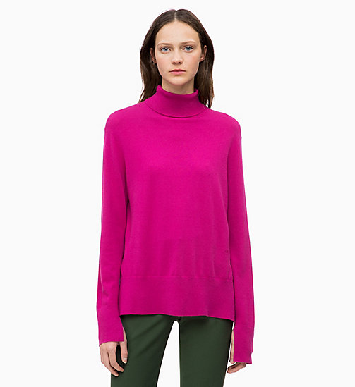 CALVINKLEIN Wool Cotton Roll Neck Jumper - ORCHID - CALVIN KLEIN NEW IN - main image