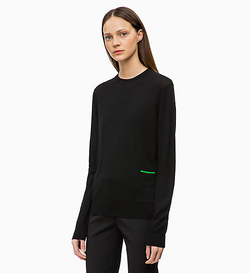 CALVIN KLEIN Wool Silk Jumper - BLACK - CALVIN KLEIN CLOTHES - main image