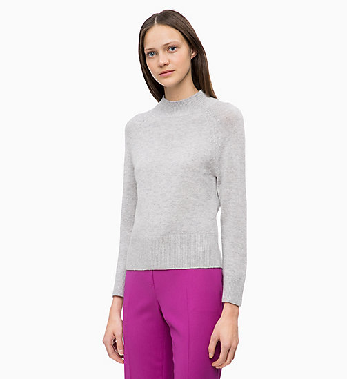 CALVIN KLEIN Wool Cashmere Jumper - LIGHT GREY HTR - CALVIN KLEIN CLOTHES - main image