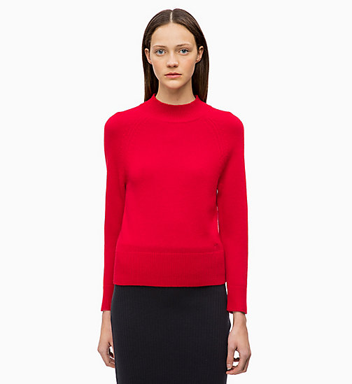 CALVINKLEIN Wool Cashmere Jumper - CRIMSON - CALVIN KLEIN INVEST IN COLOUR - main image