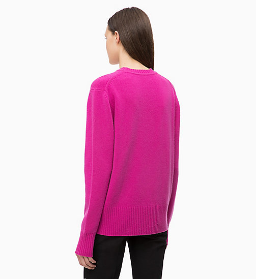 CALVINKLEIN Pure Cashmere Jumper - ORCHID - CALVIN KLEIN NEW IN - detail image 1