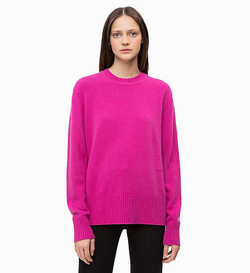 CALVINKLEIN Pure Cashmere Jumper - ORCHID - CALVIN KLEIN NEW IN - main image