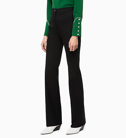 CALVIN KLEIN High Rise Bootcut Trousers - BLACK - CALVIN KLEIN WOMEN - main image
