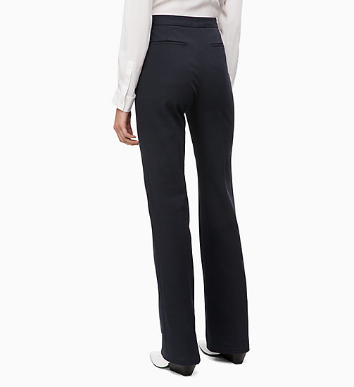 CALVINKLEIN High Rise Bootcut Trousers - DEEP NAVY - CALVIN KLEIN INVEST IN COLOUR - detail image 1